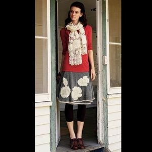 Anthro Charlie and Robin Kittatinny Sweater Skirt
